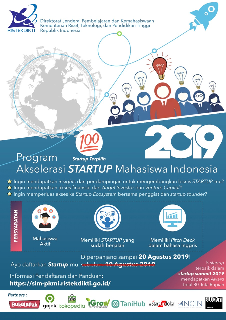RISTEKDIKTI Startup Acceleration Program for Indonesian